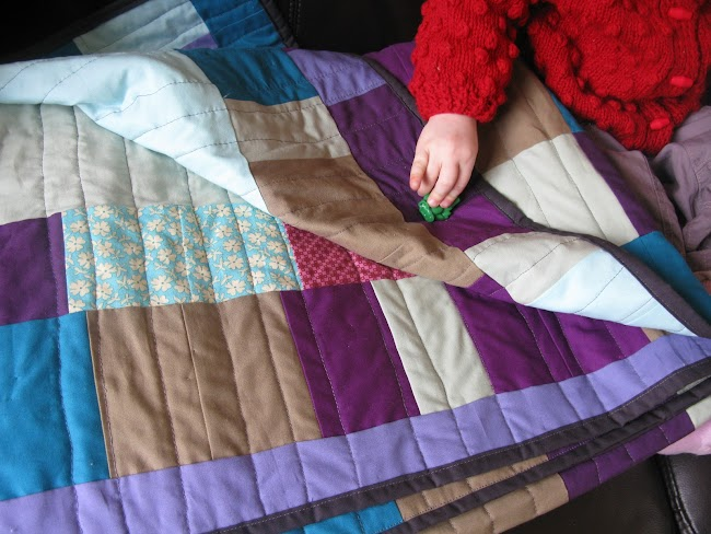 solid simple quilt