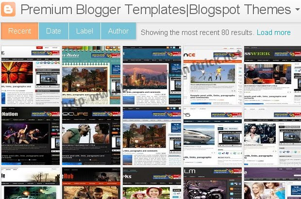 Blogger Template Style Name Dynamic Views