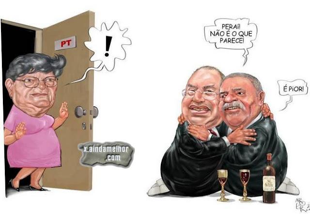 Resultado de imagem para Lula e maluf: charges