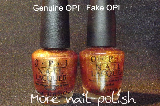 Spotting a fake OPI is getting really hard ~ More Nail Polish