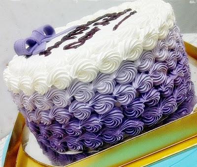 Foto Purple Ombre Cake Enak