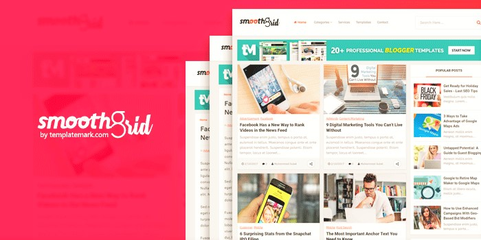 Download Smooth Gird Blogger Template
