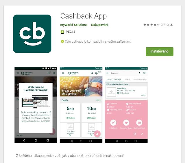 Cashback App od Cashback World na portále Google Play