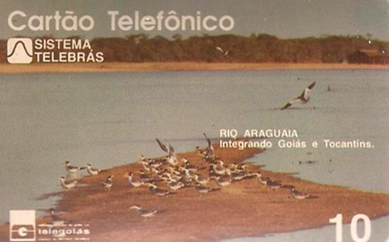 Cartão telefônico - Telegoiás - Rio Araguaia