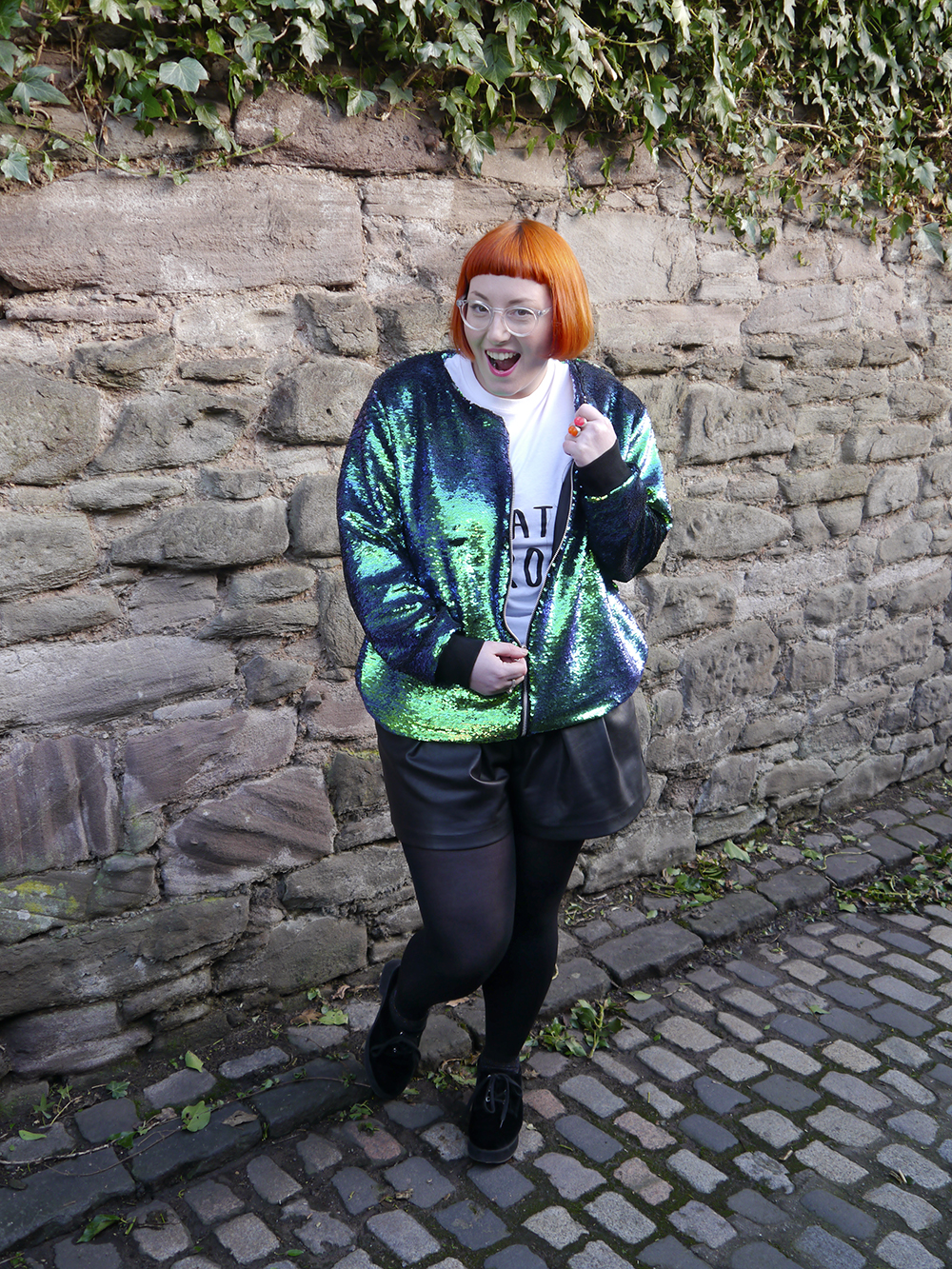 Isolated Heroes, Styled by Helen, Dundee designer, Scottish designer, Scottish blogger, Independent designer, street style, sequined outfit, mermaid sequins, mermaid sequin bomber jacket