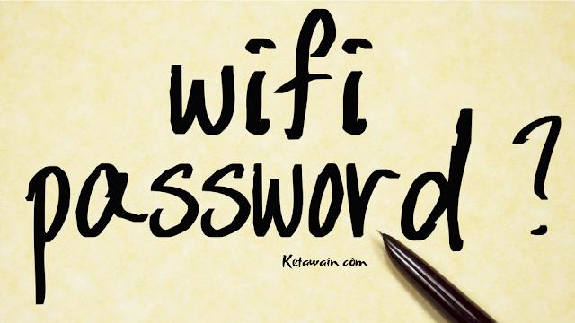 Cara Mengetahui Password WiFi