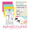 Pink and paper card kit - SEPTEMBER 2017