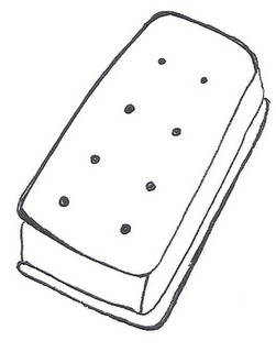 ice cream sandwich coloring pages - photo #9