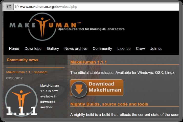 Make Human también está disponible para Linux, cómo instalar en Ubuntu