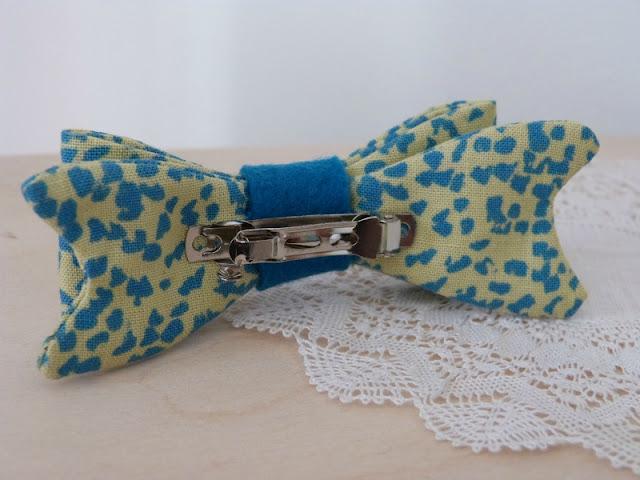 barrette noeud en tissu