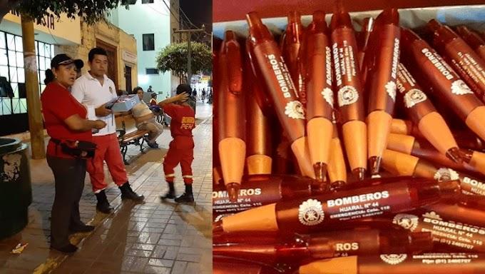 Huaral: Bomberos venden lapiceros para reparar ambulancia| FOTOS