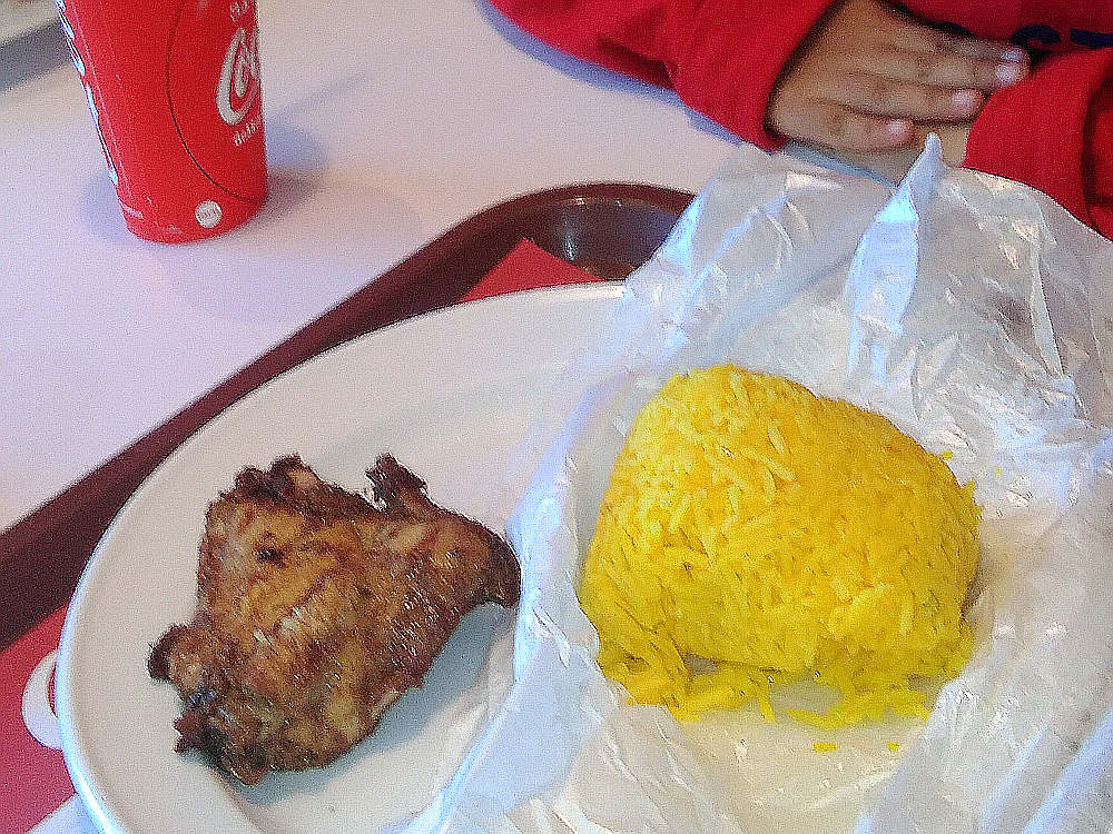 Flaming grilled chicken dan nasi kuning arab