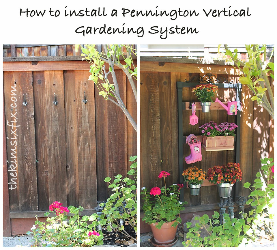 Oh Grow Up How To Install The Pennington Vertical Gardening System