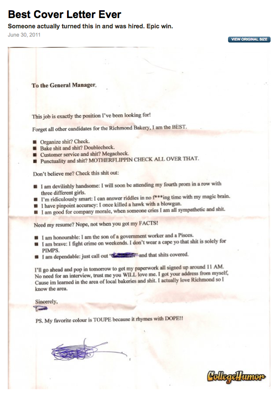 Best cover letter ever creative little devil for The best cover letter i ve ever read