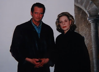 Klaus Guingand and Lauren Bacall - 1994