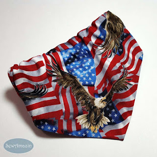 American Flags and Eagles Dog Bandanas