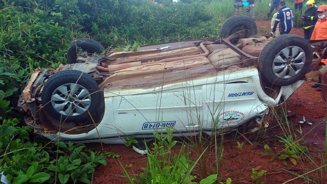 Quatro pessoas morrem agora em grave acidente na BR 364 nesta segunda