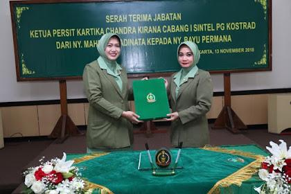 Ketua Persit KCK Gabungan Kostrad Pimpin Sertijab Ketua Persit KCK Cabang I Sintel PG Kostrad