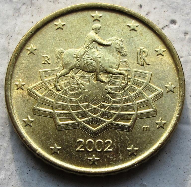 2002 Italy 50 Euro Cents