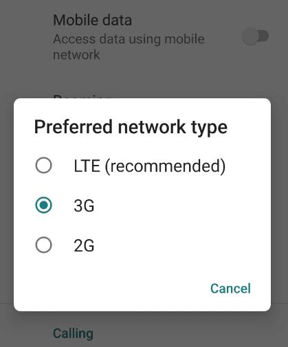 Mengatur Jaringan 4G LTE