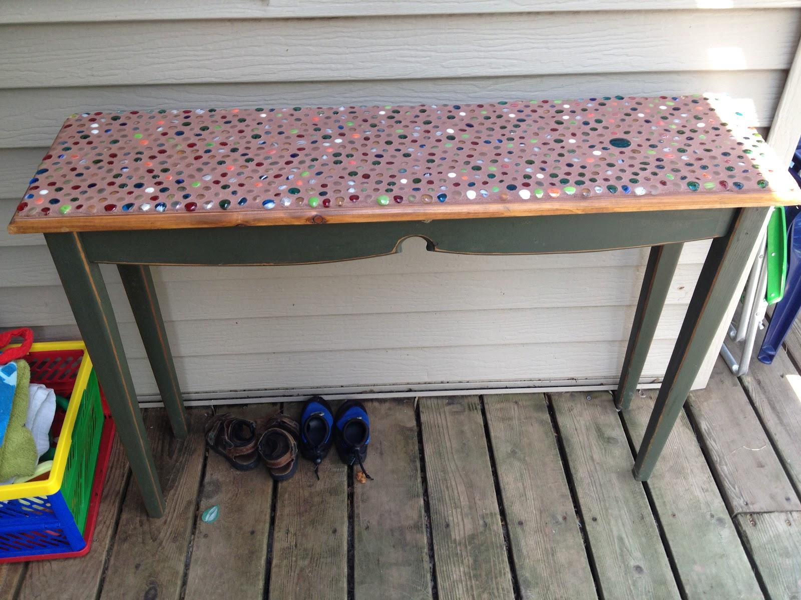 Junk Mail Gems: DIY Marble Mosaic Table Top