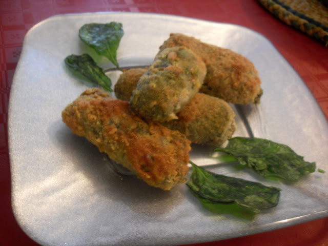 Paprika En La Cocina: Croquetas de espinacas a la catalana con queso
