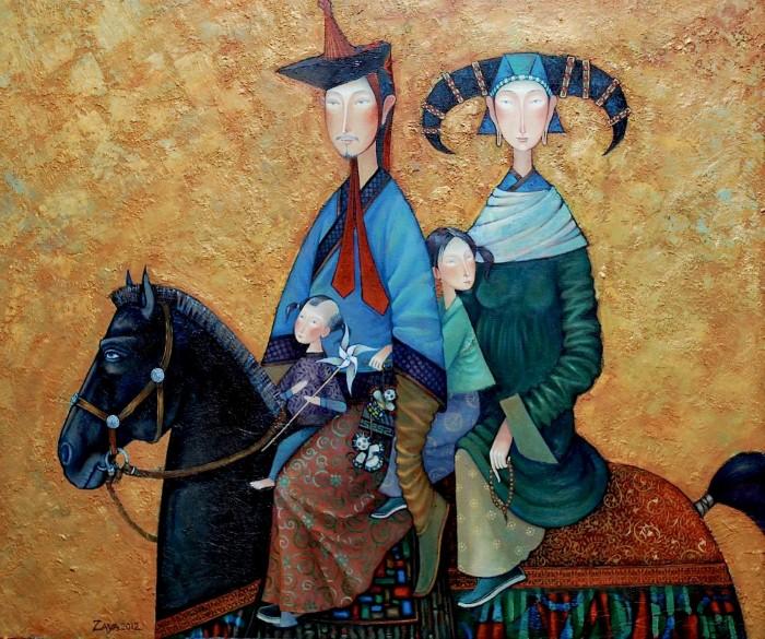 Монгольский художник. Заясайхан Самбуу 12