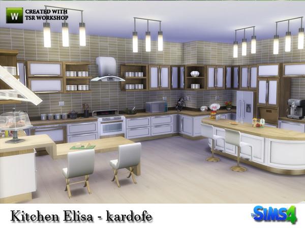 My Sims 4 Blog Elisa Kitchen Set By Kardofe