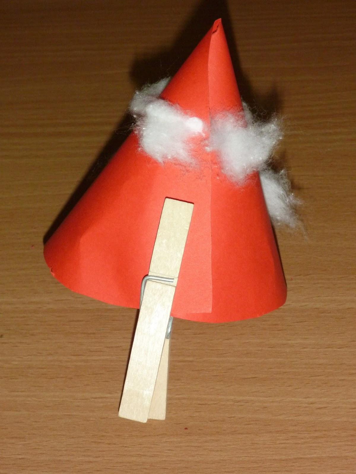 M rlimuus t rchen nr 6 samichlaus aus papier basteln for Nikolaus dekoration basteln