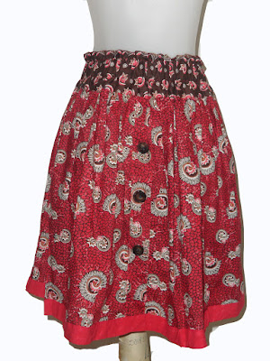 Contoh Rok Batik Print Pendek Untuk Wanita