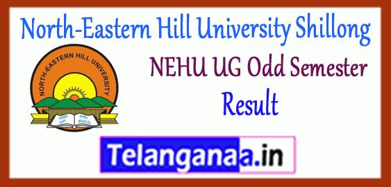 NEHU North-Eastern Hill University Shillong BA B.Sc B.Com BBA BCA BSW (UG) 1st 3rd 5th Semester Result