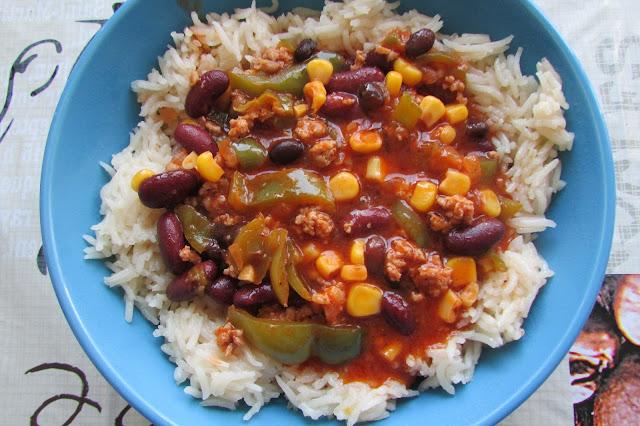 potrawka meksykańska z ryżem