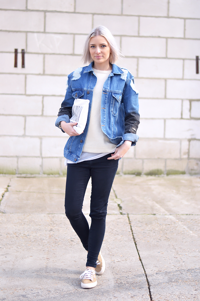 Outfit, superga, sneakers, camel, ridley jeans, asos, jeans jacket