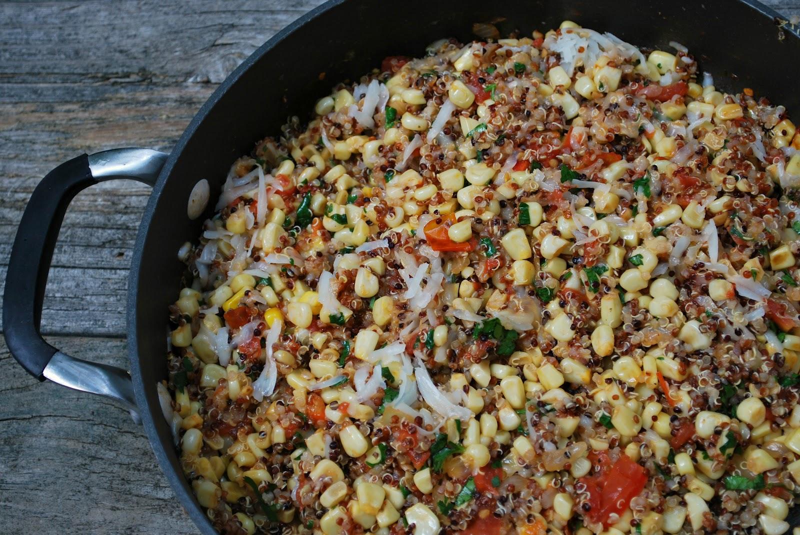 Cheese Please Corn And Manchego Tri Color Quinoa Salad