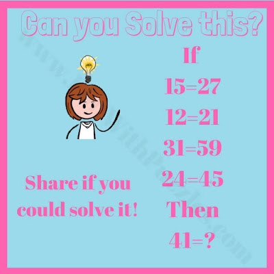 Math logical puzzle brain teaser