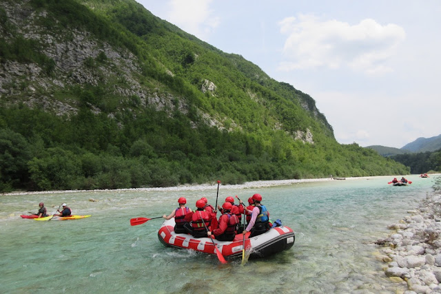 The stunning backdrop to rafting on the Soca River - Emerald River Adventure - Slovenia