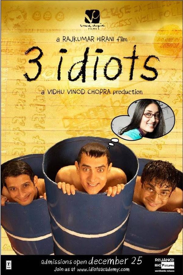 3 Idiots 2009 movie Poster