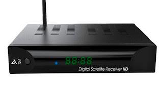 Audisat A3 HD Atualização V.1.3.69 - 18/10/2018