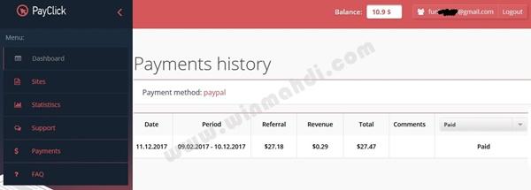 Pembayaran dari PayClick.com