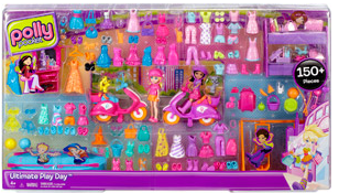 *HOT!*  Polly Pocket 150 Piece Set (Includes 2 Dolls + 2 Scooters!) =  $22.50 + FREE Shipping Or Pickup!  Regularly $45!