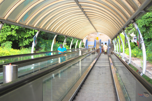 Long escalator in Ocean Park Hong Kong
