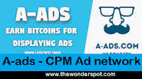 A-Ads  CPM based Bitcoin Ad network