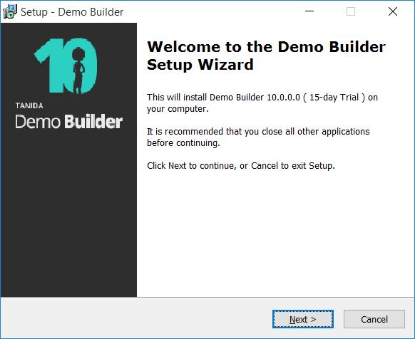 Tanida Demo Builder 10