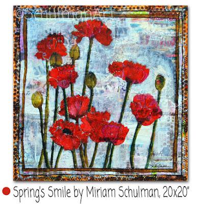 flower painting | poppy painting by miriam schulman | http://www.schulmanart.com