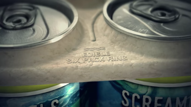 Local Beer Company Makes Edible Anti-Plastic Six-Pack Rings To Feed Marine Animals Instead Of Killing Them