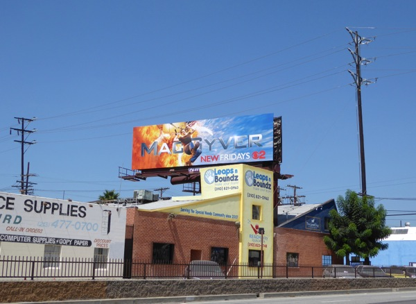 MacGyver TV remake billboard