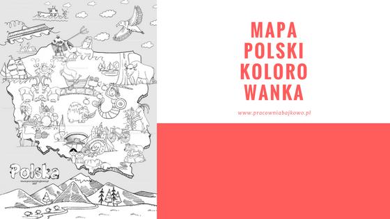 Mapa Polski do kolorowania