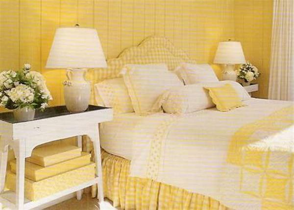 Unique Paint Ideas With Yellow Bedroom Design