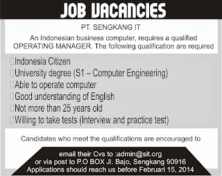 Pengertian Job Vacancy