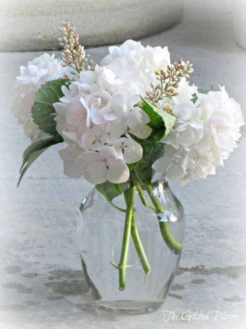 Simple Fresh Hydrangea Arrangments The Gilded Bloom